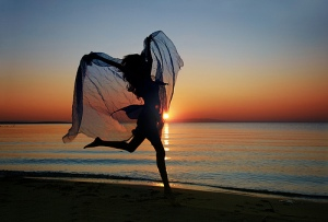 Dance in sunrise